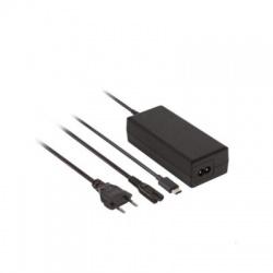 DA37 nabíjačka notebookov typ USB-C, 65W, PD, s káblom, čierna