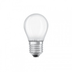 LEDSCLP40 4W/840 230VGLFR E27, LED žiarovka, matná