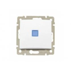774425 Valena vypínač č.6 so signalizačným osvetlením, biely