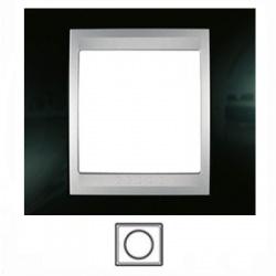 1-rámik, lesklá čierna/hliník, MGU66.002.093