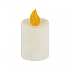 LED sviečka, 2xR14, oranžový plameň
