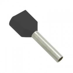 2x1,5 dutinka dvojitá, dĺžka 8mm, čierna