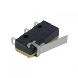 SPDT 5A/250V mikrospínač s páčkou, čierny