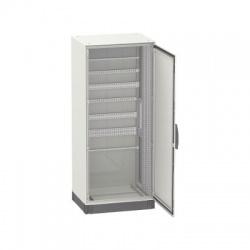 1800x600x300 oceľoplechová skriňa plné dvere s montážnym panelom, IP55