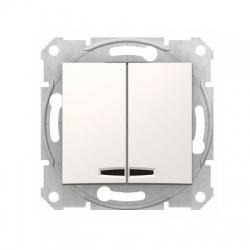 SDN0300323 vypínač č. 5 s modrou orientačnou kontrolkou, krémový