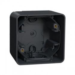 1-násobná inštalačná krabica, povrchová, IP55, horizontálna, antracit