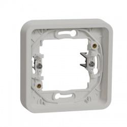1-násobný rámik, IP55, s rozperkami, biely