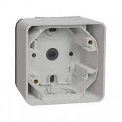 1-násobná inštalačná krabica, povrchová, IP55, horizontálna, biela