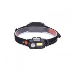 LED čelové nabíjacie svietidlo, 3W + COB, 150lm + 60lm, Li-ion