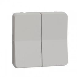 Vypínač r.6+6, IP55, dvojitý, striedavý, biely
