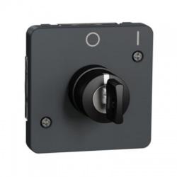 Spínač na kľúč, 2 pozície, IP55, antracit