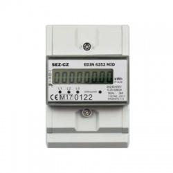 EDIN6252MID, 5-80A, 3-fázový, digitálny elektromer s certifikáciou
