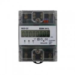 EDIN341L, 5-80A, 3-fázový, digitálny elektromer s certifikáciou