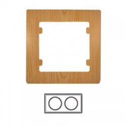 2-rámik horizontálny, svetlé drevo, 32105702