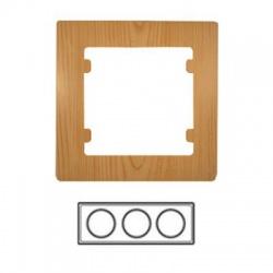 3-rámik horizontálny, svetlé drevo, 32105703