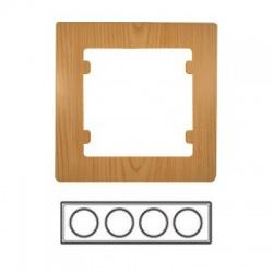 4-rámik horizontálny, svetlé drevo, 32105704