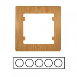 5-rámik horizontálny, svetlé drevo, 32105705