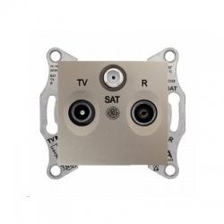 SDN3501368 TV-SAT-R zásuvka, 1dB, koncová, titán