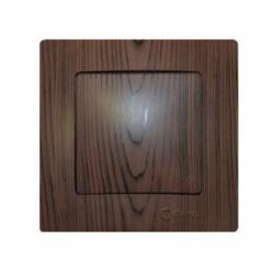 32102101 Lillium vypínač č. 1, tmavé drevo