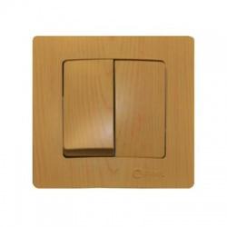 32105026 Lillium vypínač č. 5B, svetlé drevo