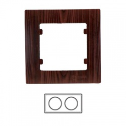 2-rámik horizontálny, tmavé drevo, 32102702