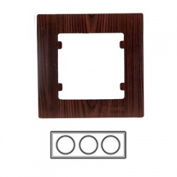 3-rámik horizontálny, tmavé drevo, 32102703
