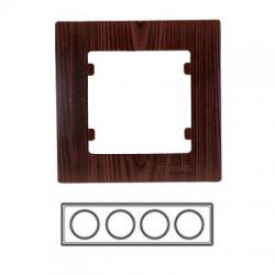 4-rámik horizontálny, tmavé drevo, 32102704