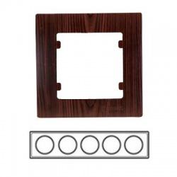 5-rámik horizontálny, tmavé drevo, 32102705