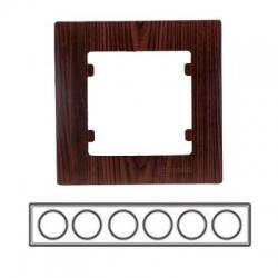 6-rámik horizontálny, tmavé drevo, 32102706
