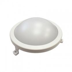 LED ochranné plastové svietidlo kruhové, IP54, 12W, 840lm, 4000K, 188mm, neutrálna biela