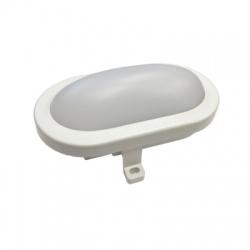 LED ochranné plastové svietidlo oválne, IP54, 6W, 420lm, 4000K, 165mm, neutrálna biela