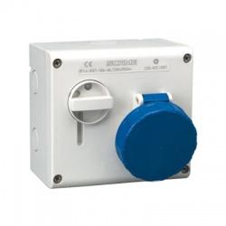 500.3283 32A/3-kolíková nástenná zásuvka so spínačom, IP44