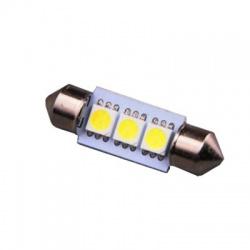 LED404W A-LED 12V (C10W) SV10x36 číra 3xLED5050 -2ks