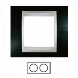 2-rámik, metalická čierna/hliník, MGU66.004.093