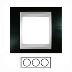 3-rámik, metalická čierna/hliník, MGU66.006.093