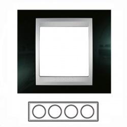4-rámik, metalická čierna/hliník, MGU66.008.093