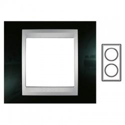 2-rámik, metalická čierna/hliník, MGU66.004V.093
