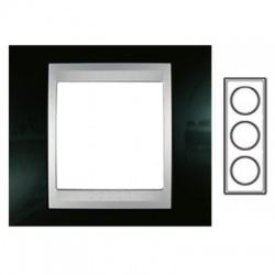 3-rámik, metalická čierna/hliník, MGU66.004V.093