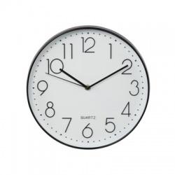 Elegance nástenné hodiny, priemer 30cm, tichý chod, čierne/biele