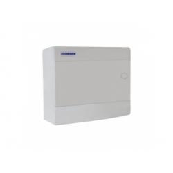 3x12 modulov, IP40, nástenná rozvodnica, dvere biele