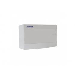 1x12 modulov, IP40, nástenná rozvodnica, dvere biele