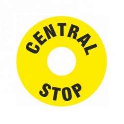 Štítok ,,central stop,, 60/32