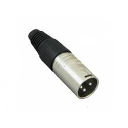 XLR M konektor na kábel 3P, nikel