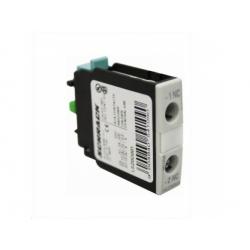 6A, 230V AC15, 1NC, pre veľkosti 0-12, pomocný kontakt, čelný