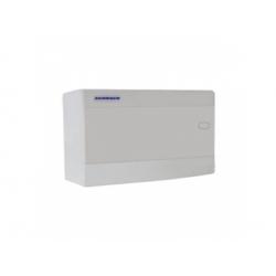 1x18 modulov, IP40, nástenná rozvodnica, dvere biele