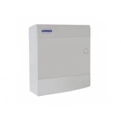 4x12 modulov, IP40, nástenná rozvodnica, dvere biele