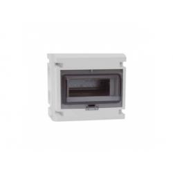1x8 modulov, IP55, nástenná skrinka, dvere dymové