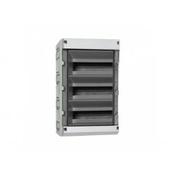 3x12 modulov, IP55, skrinka ističová, dvere dymové