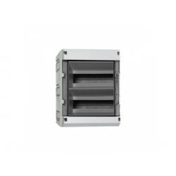 2x12 modulov, IP55, skrinka ističová, dvere dymové