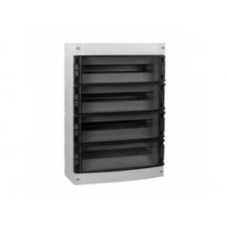 4x14 modulov, IP55, nástenná skrinka, dvere dymové